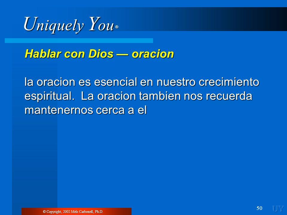 Hablar con Dios — oracion
