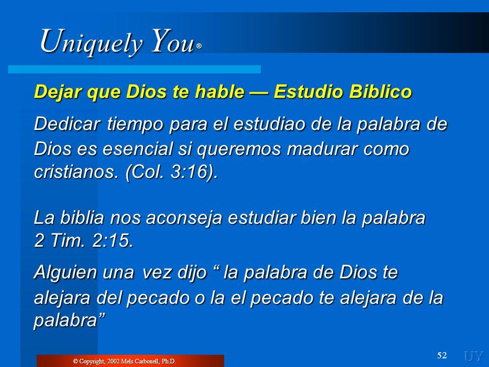 Dejar que Dios te hable — Estudio Biblico