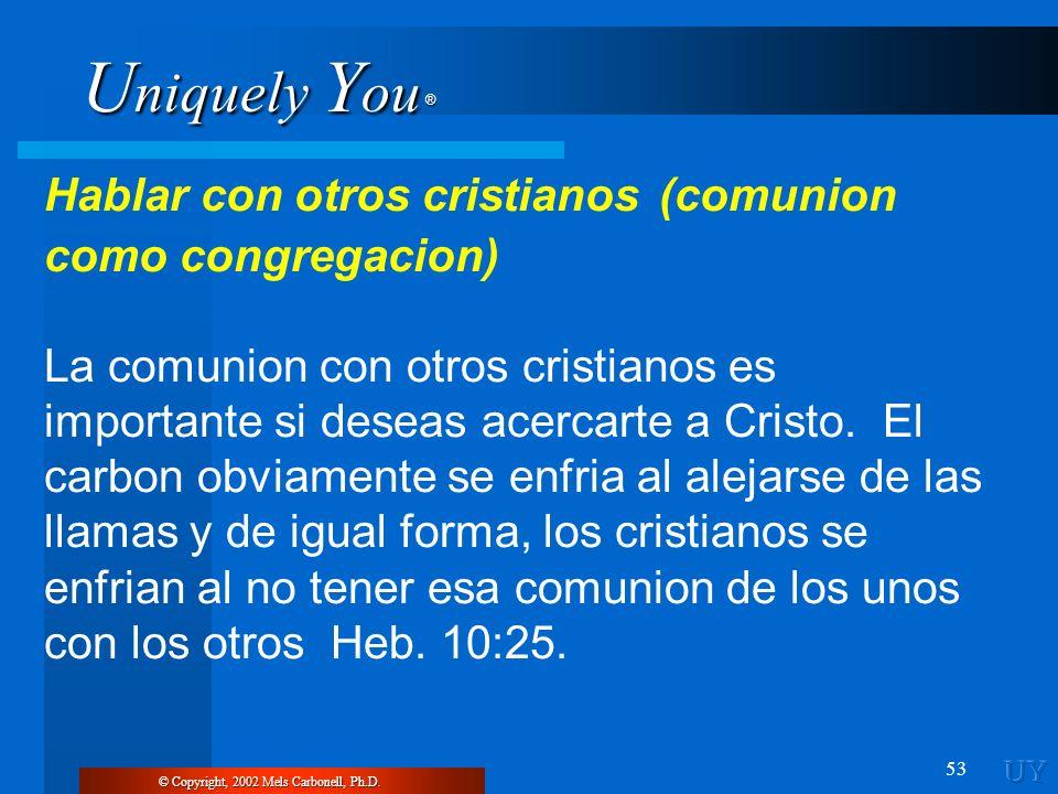 Hablar con otros cristianos (comunion como congregacion)