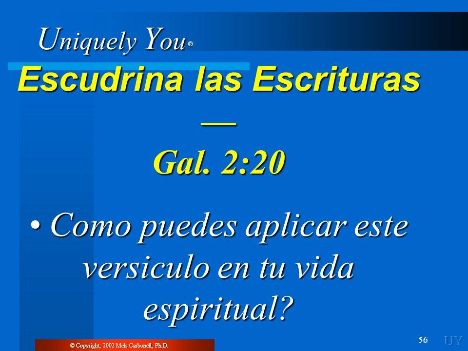 Escudrina las Escrituras —