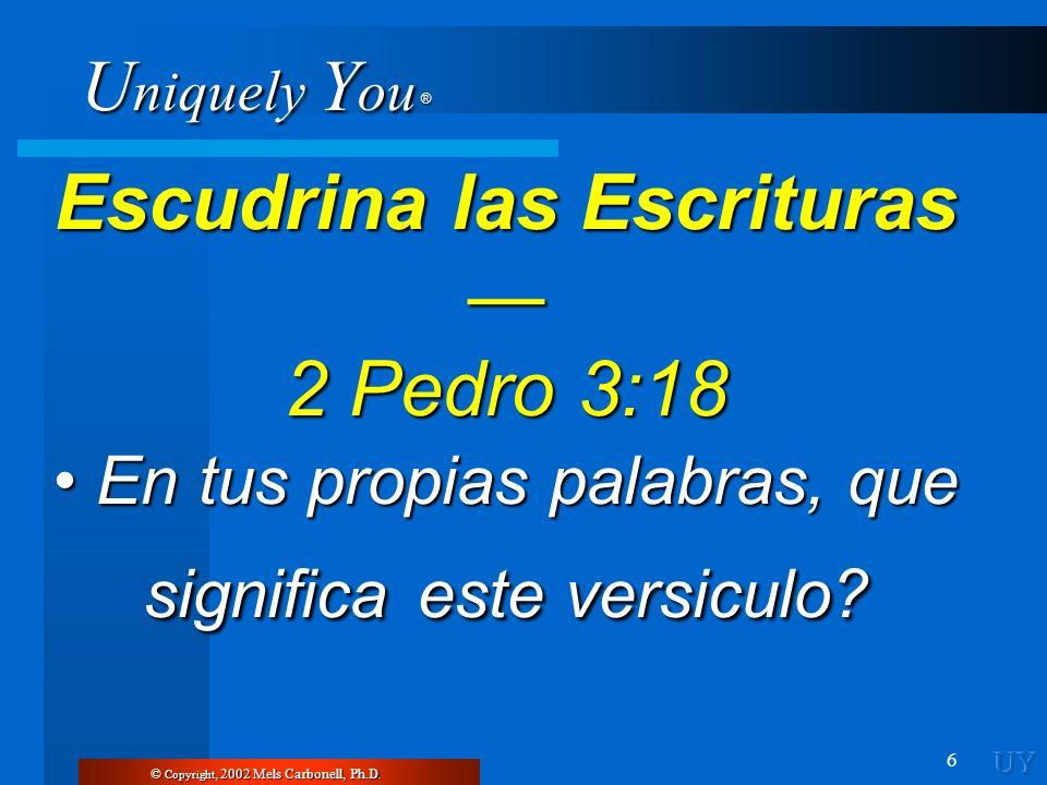 Escudrina las Escrituras — 2 Pedro 3:18
