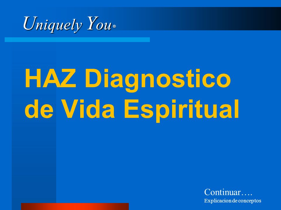 HAZ Diagnostico de Vida Espiritual