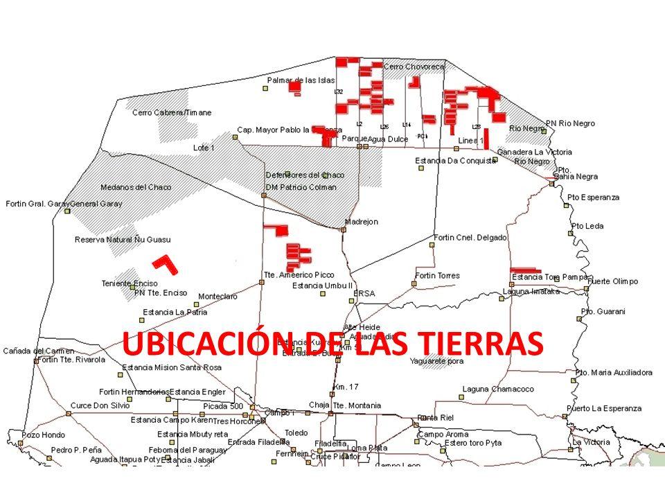 UBICACIÓN DE LAS TIERRAS