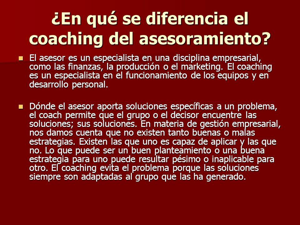 ¿En qué se diferencia el coaching del asesoramiento