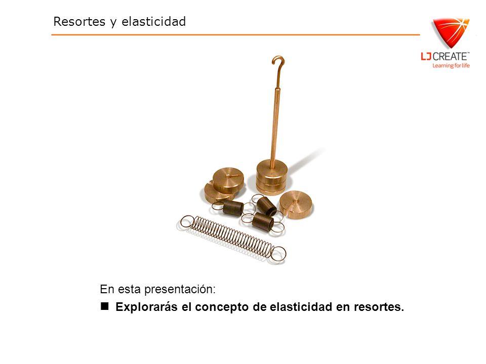 En esta presentación: Explorarás el concepto de elasticidad en resortes.