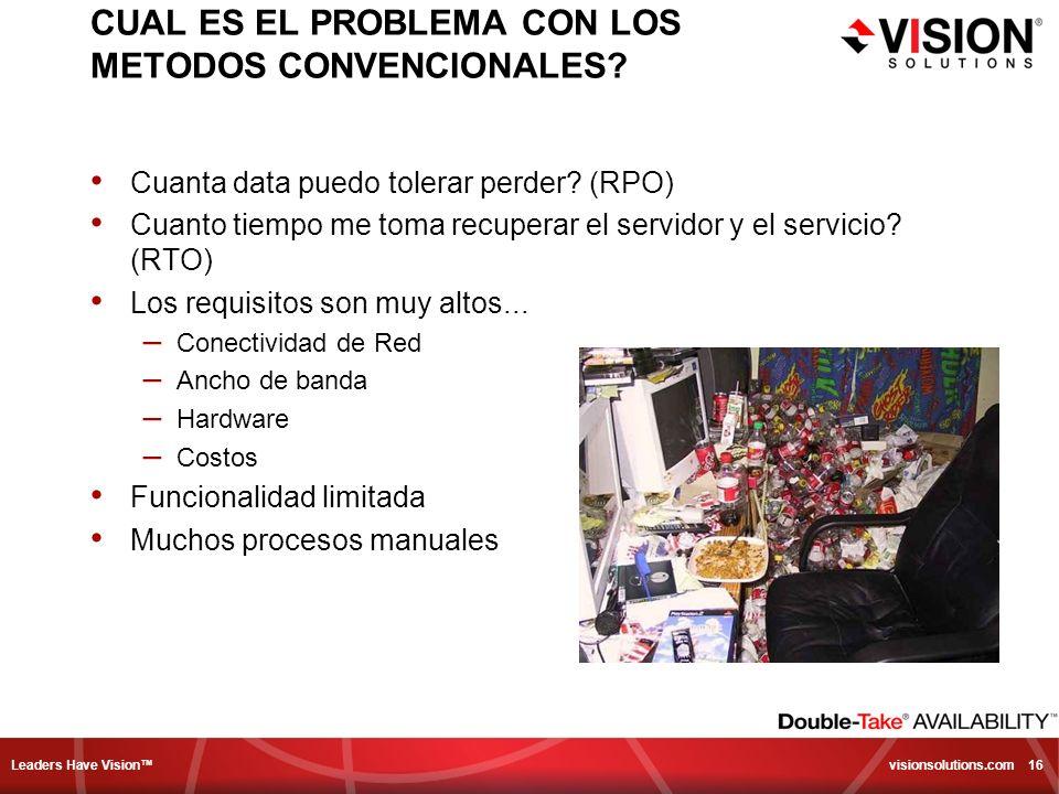 CUAL ES EL PROBLEMA CON LOS METODOS CONVENCIONALES