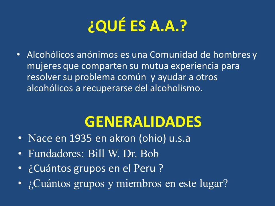 ¿QUÉ ES A.A. GENERALIDADES