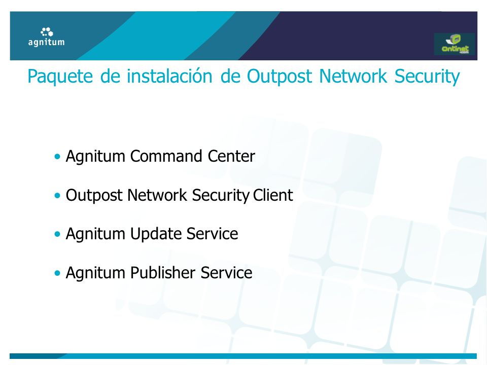 Paquete de instalación de Outpost Network Security