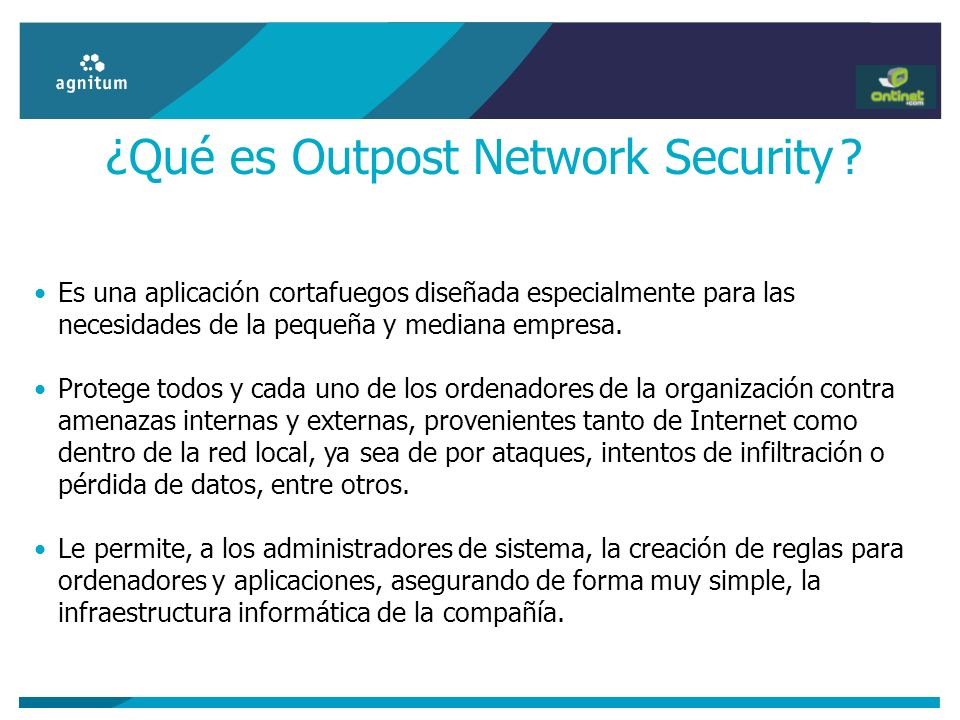 ¿Qué es Outpost Network Security