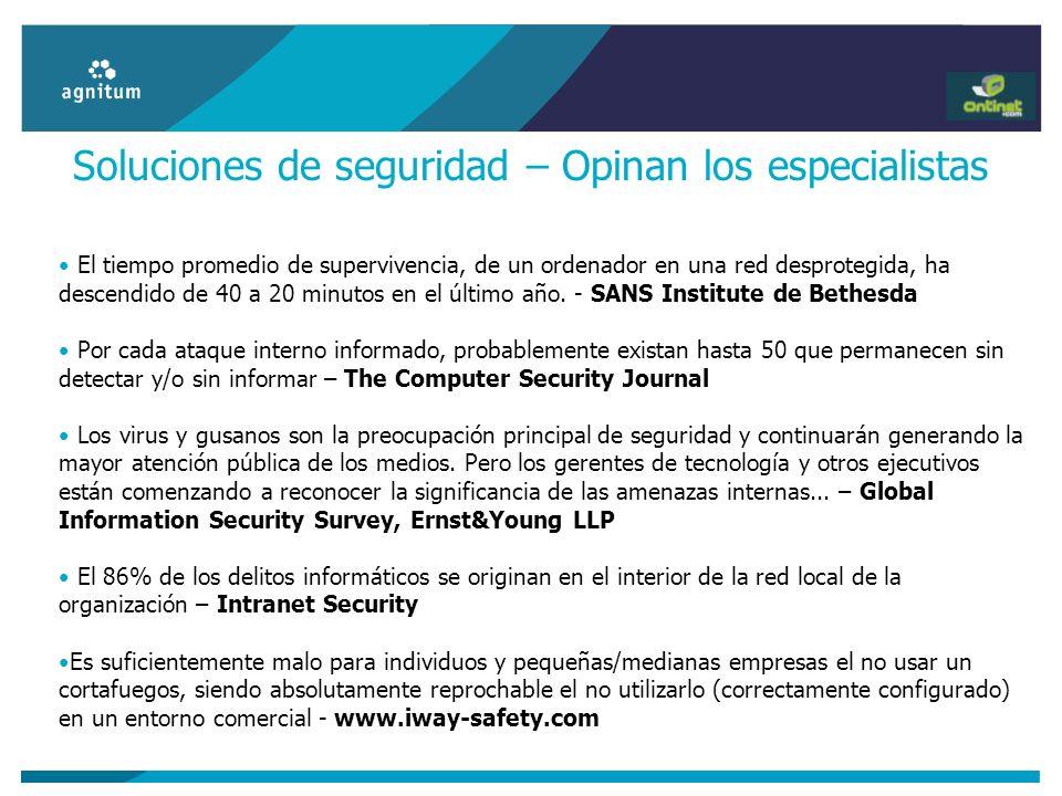 Soluciones de seguridad – Opinan los especialistas
