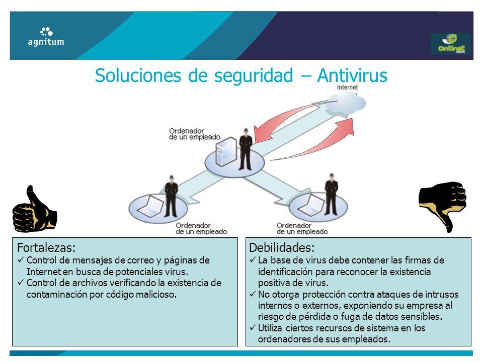 Soluciones de seguridad – Antivirus