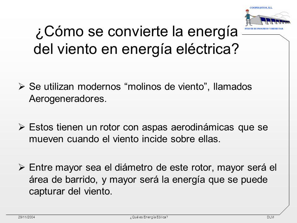 ¿Cómo se convierte la energía del viento en energía eléctrica