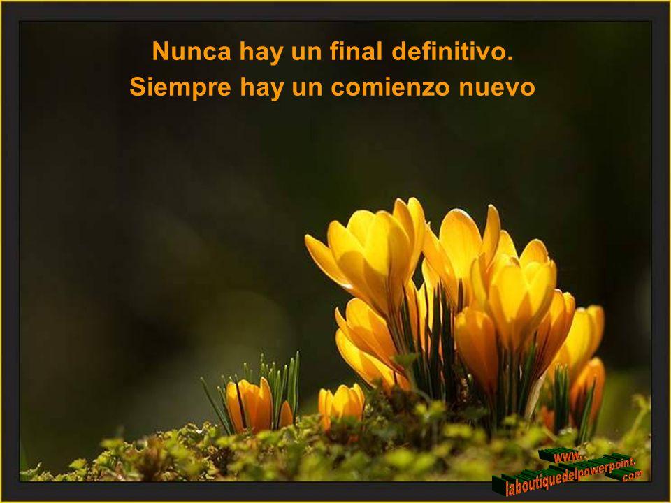 Nunca hay un final definitivo. Siempre hay un comienzo nuevo