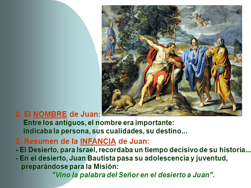 3. Resumen de la INFANCIA de Juan: