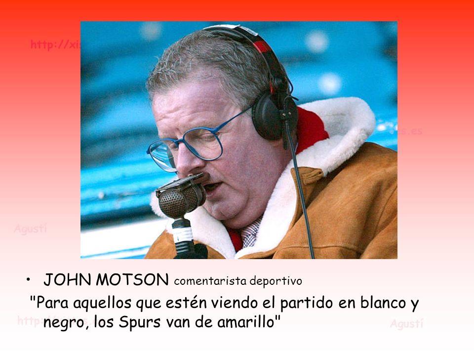 JOHN MOTSON comentarista deportivo