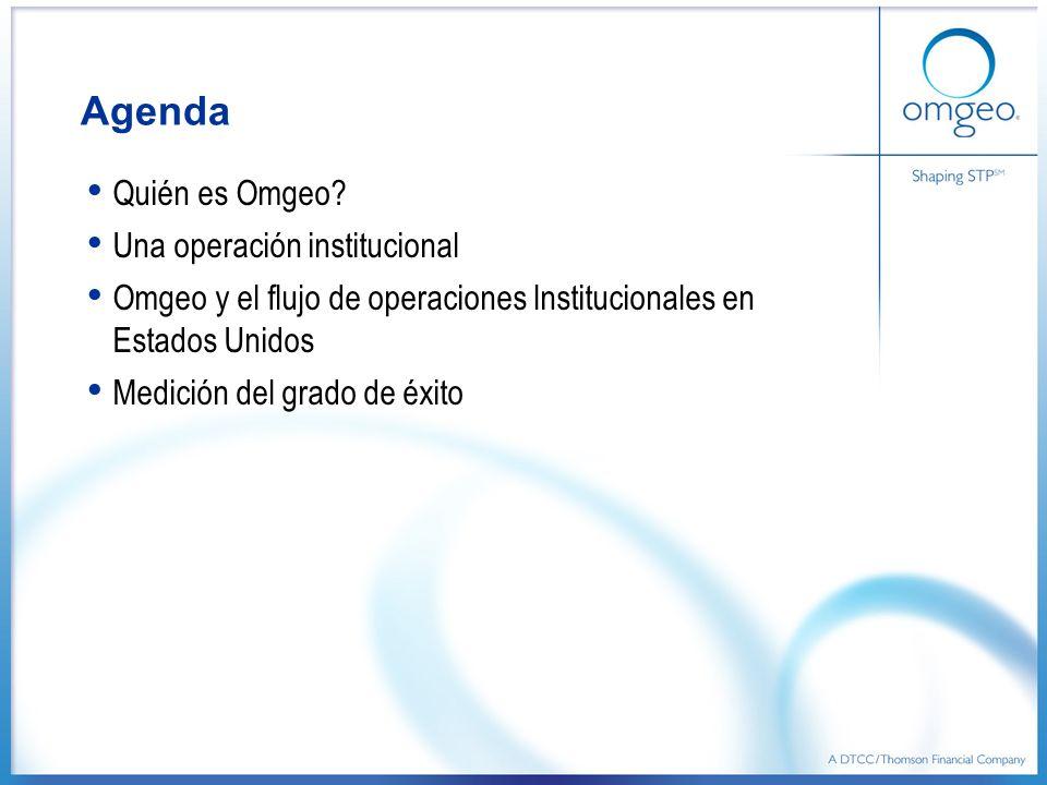 Agenda Quién es Omgeo Una operación institucional