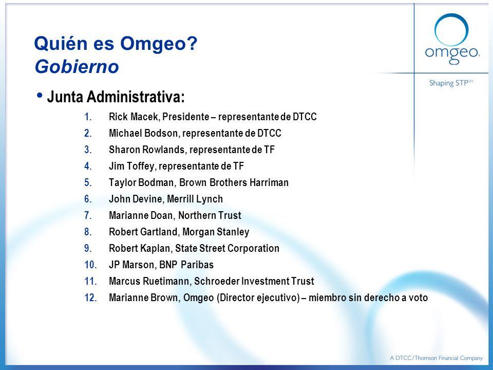 Quién es Omgeo Gobierno