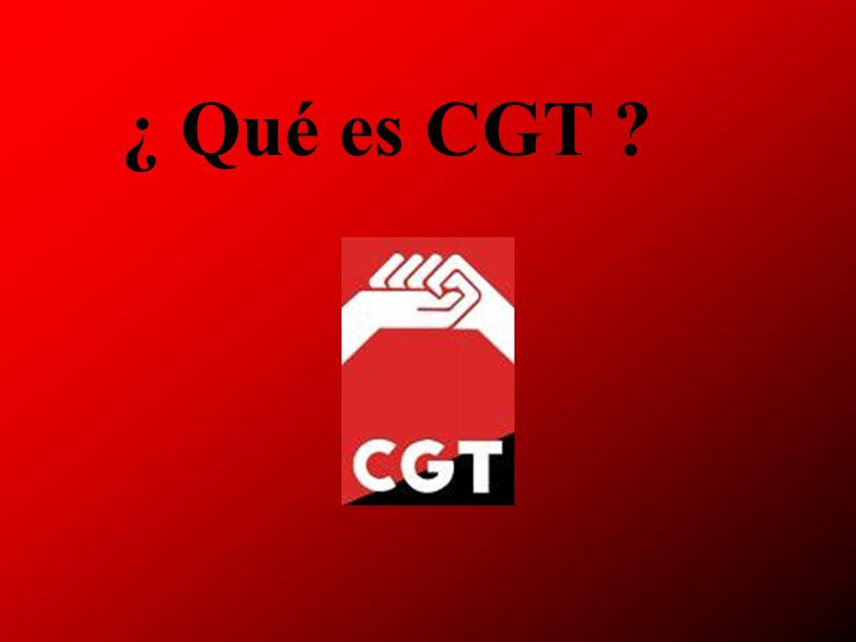 ¿ Qué es CGT