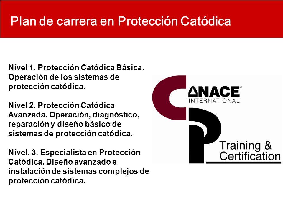 Plan de carrera en Protección Catódica