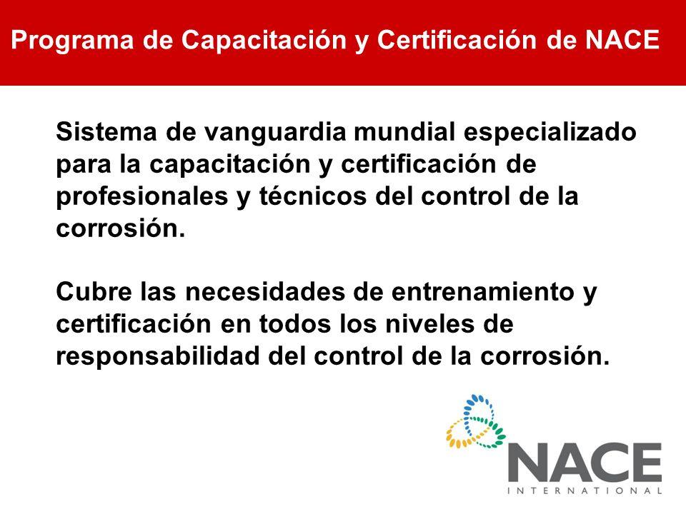 Programa de Capacitación y Certificación de NACE