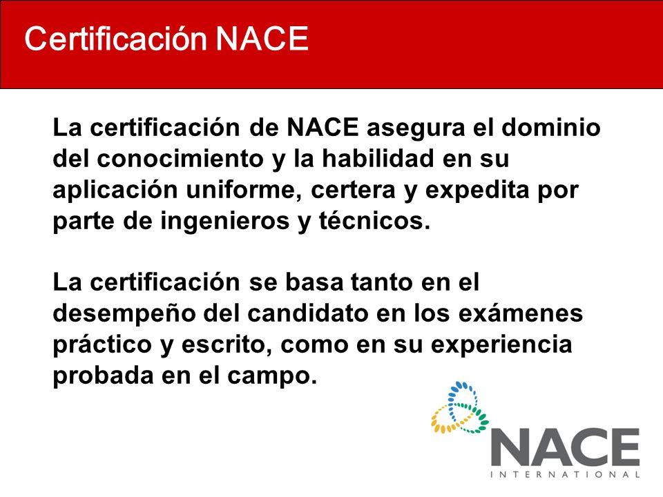 Certificación NACE