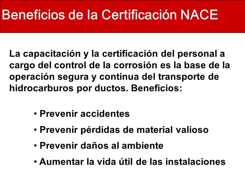 Beneficios de la Certificación NACE
