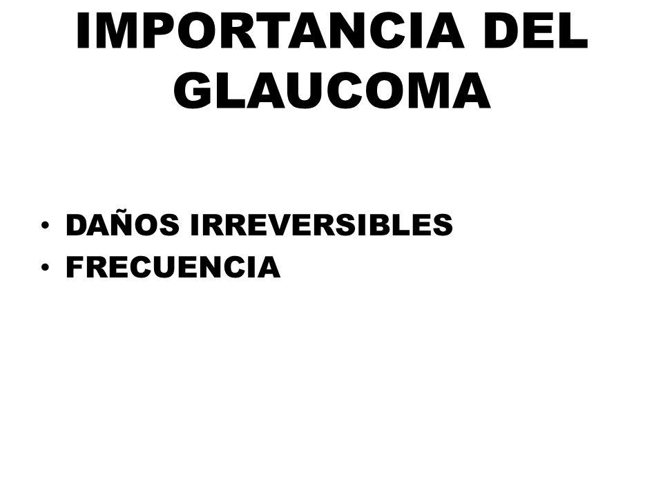 IMPORTANCIA DEL GLAUCOMA
