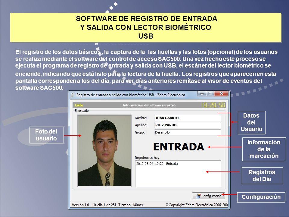 SOFTWARE DE REGISTRO DE ENTRADA Y SALIDA CON LECTOR BIOMÉTRICO USB