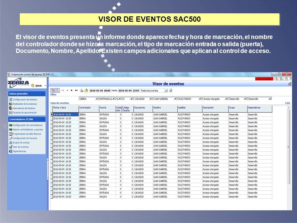 VISOR DE EVENTOS SAC500