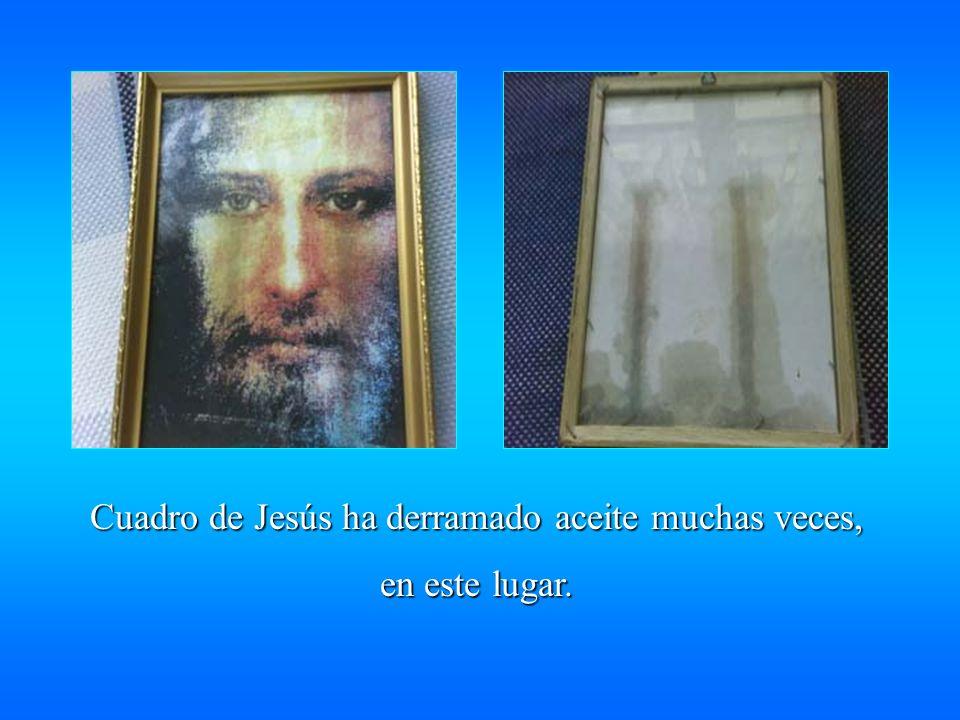 Cuadro de Jesús ha derramado aceite muchas veces,