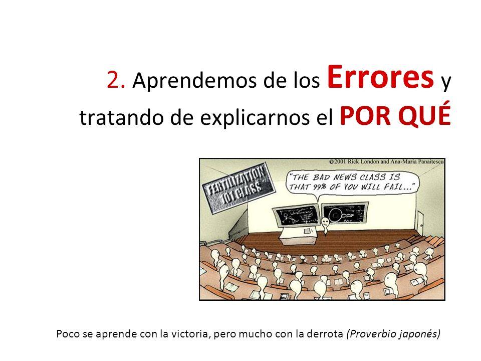 2. Aprendemos de los Errores y tratando de explicarnos el POR QUÉ