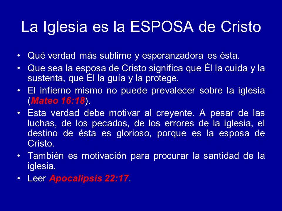 La Iglesia es la ESPOSA de Cristo