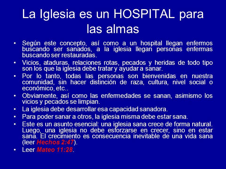 La Iglesia es un HOSPITAL para las almas