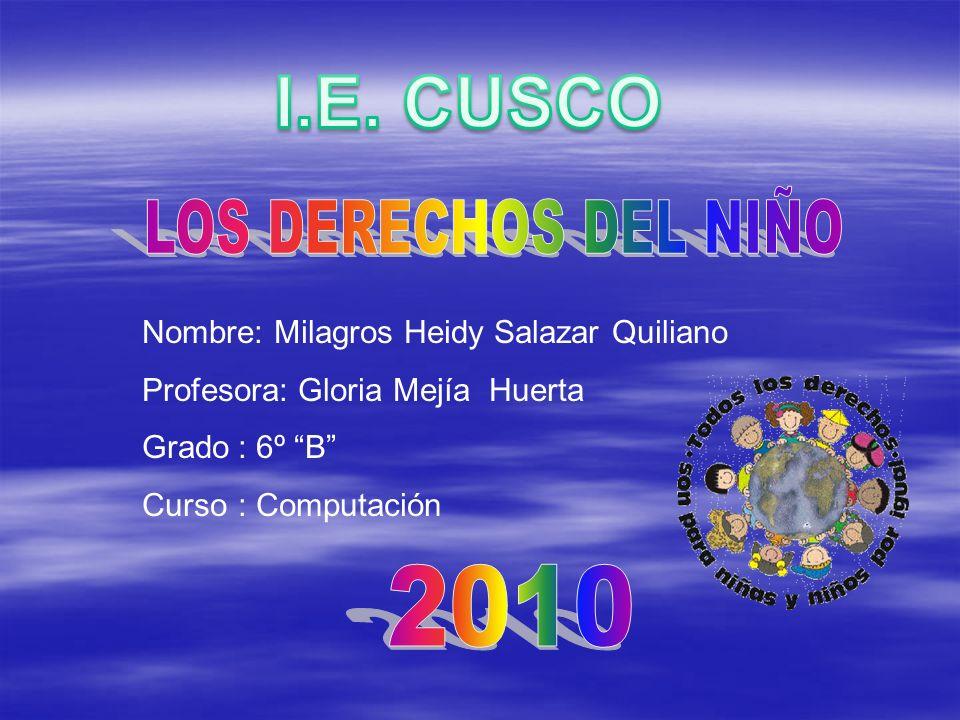 I.E. CUSCO LOS DERECHOS DEL NIÑO 2010