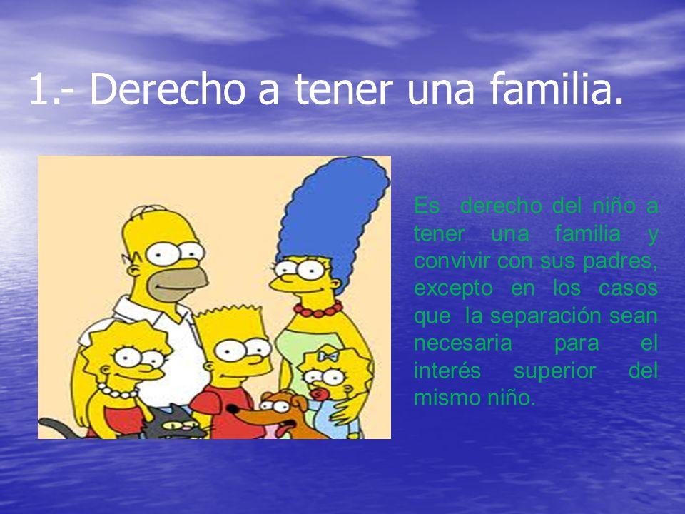 1.- Derecho a tener una familia.