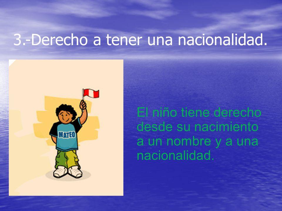 3.-Derecho a tener una nacionalidad.