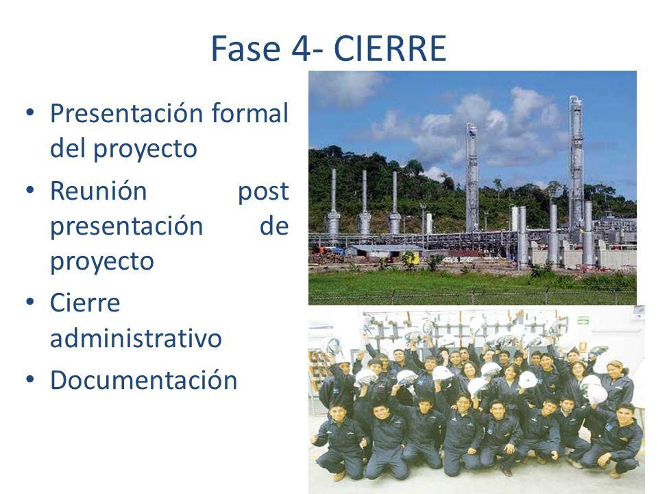 Fase 4- CIERRE Presentación formal del proyecto
