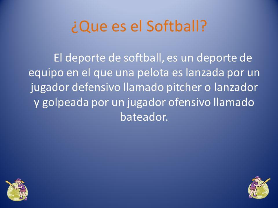 ¿Que es el Softball