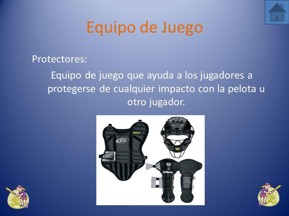 Equipo de Juego Protectores: Equipo de juego que ayuda a los jugadores a protegerse de cualquier impacto con la pelota u otro jugador.