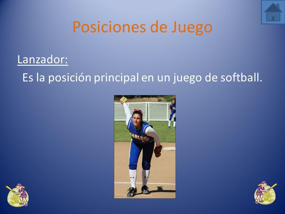 Es la posición principal en un juego de softball.