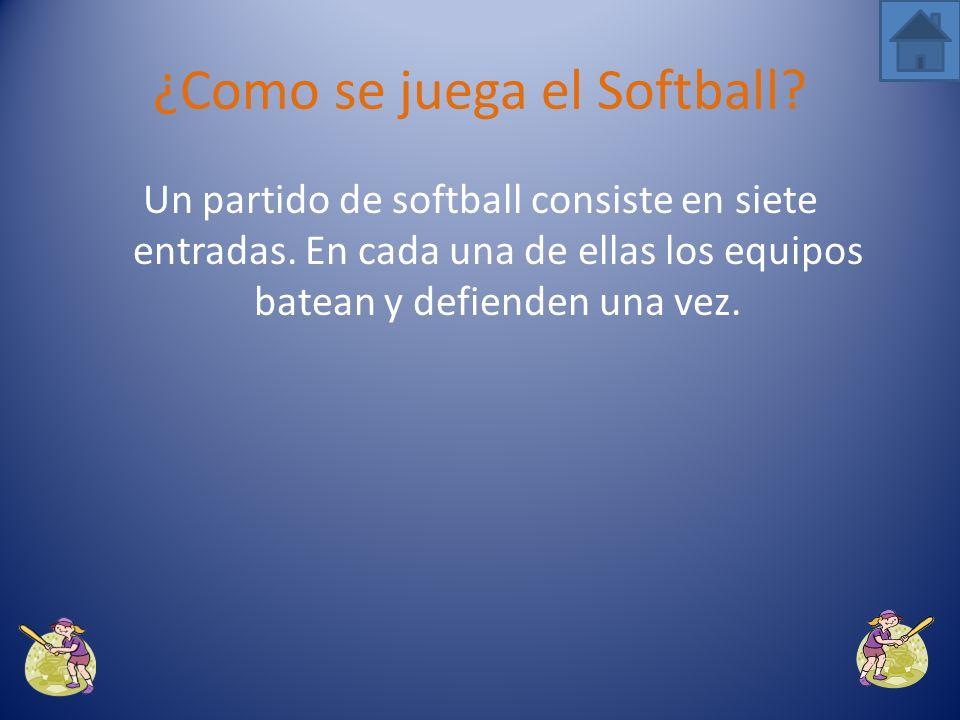 ¿Como se juega el Softball