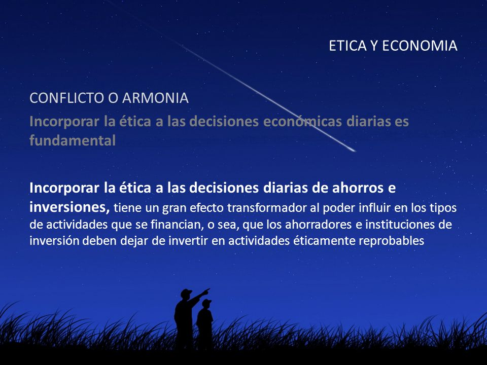 ETICA Y ECONOMIA