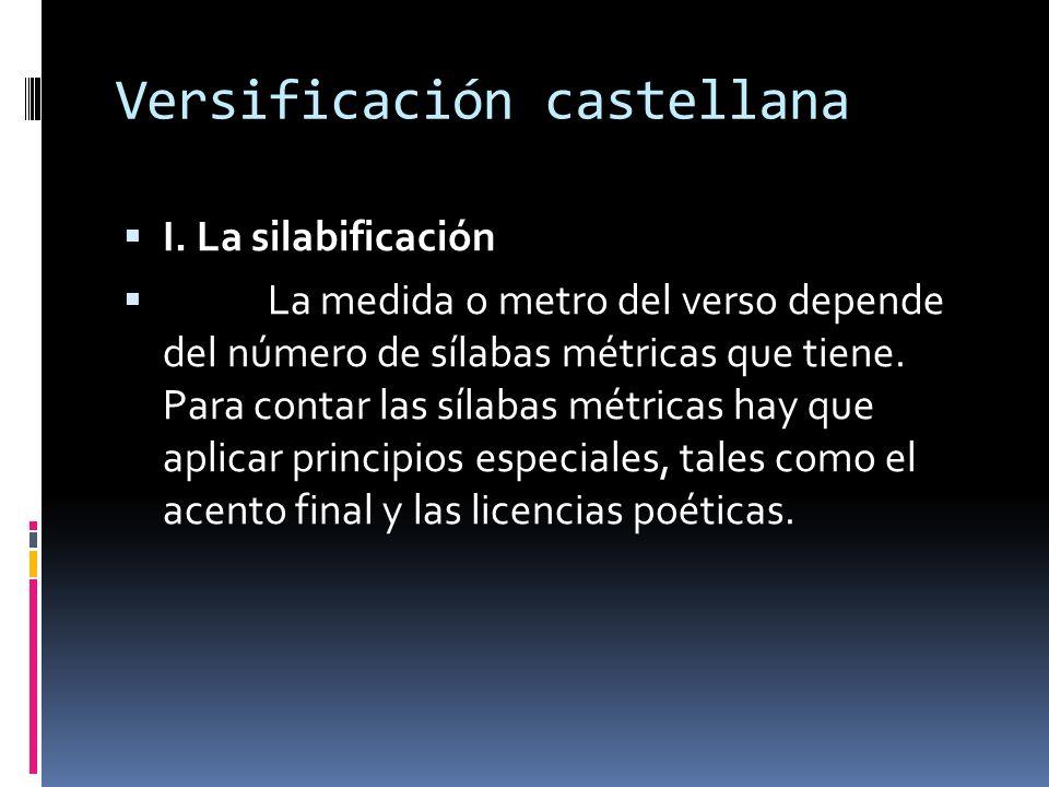 Versificación castellana
