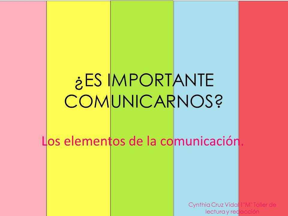¿ES IMPORTANTE COMUNICARNOS