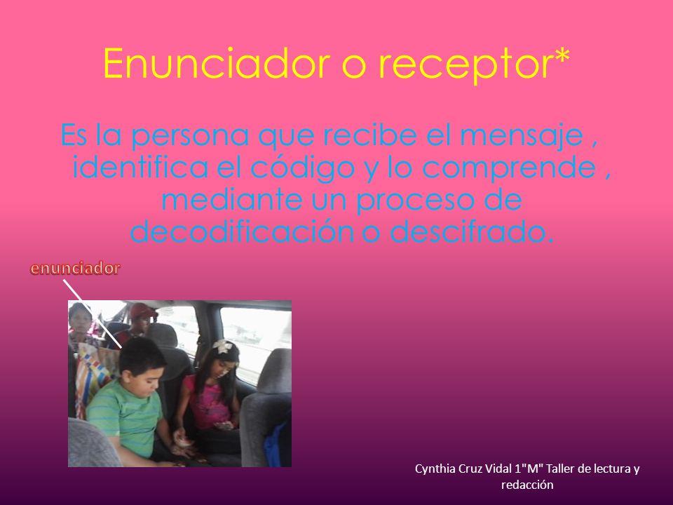 Enunciador o receptor*