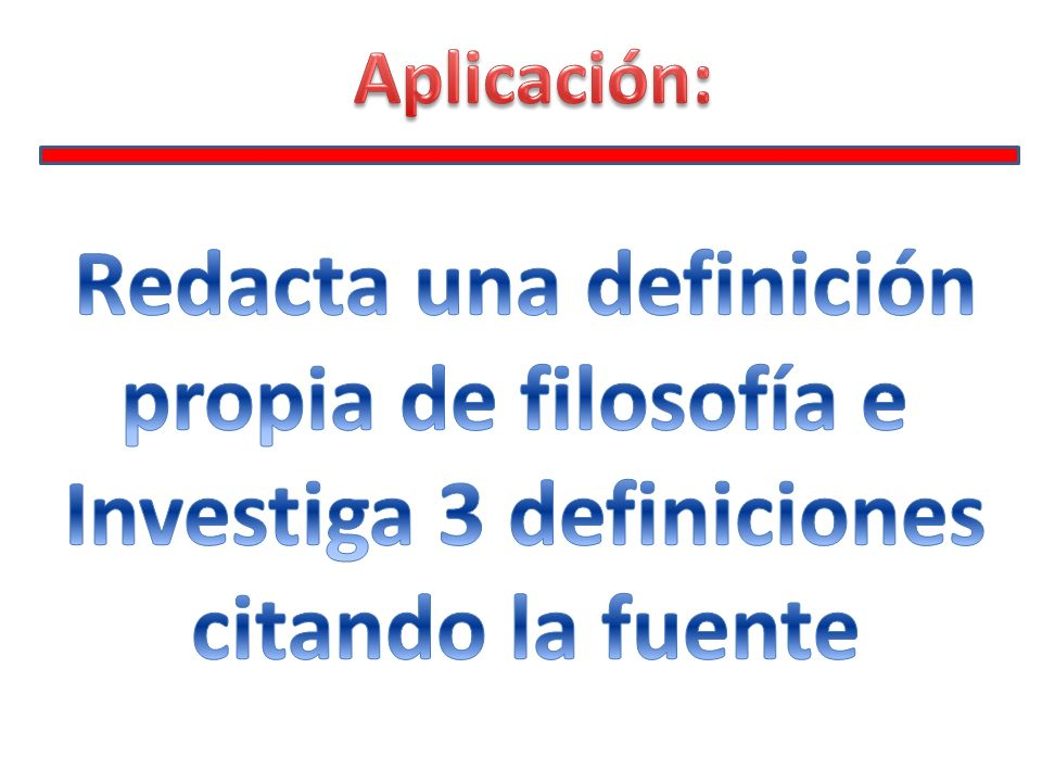 Redacta una definición Investiga 3 definiciones