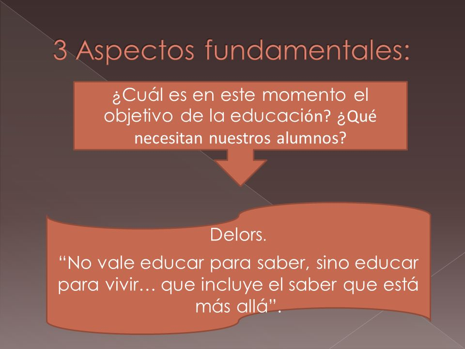 3 Aspectos fundamentales: