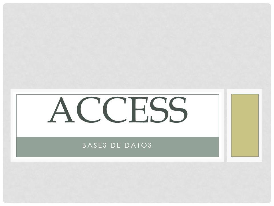 Access Bases de datos
