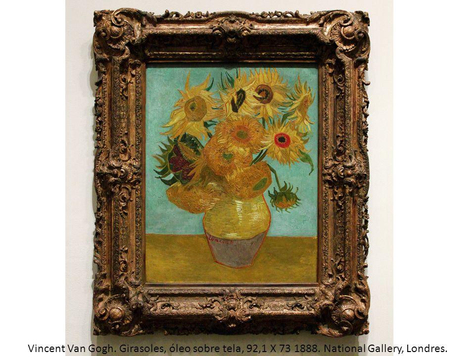 Vincent Van Gogh. Girasoles, óleo sobre tela, 92,1 X 73 1888