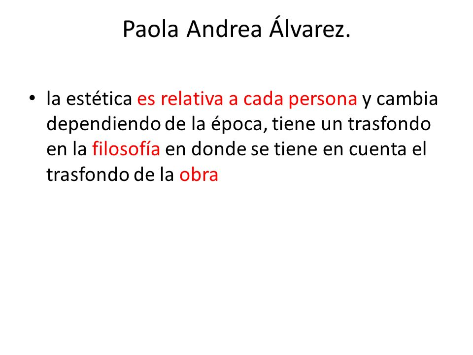 Paola Andrea Álvarez.